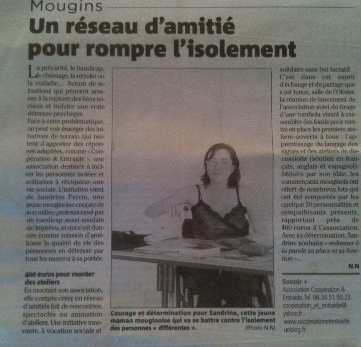 Article dans Nice Matin